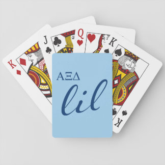 Alpha Xi Delta Lil Script Playing Cards