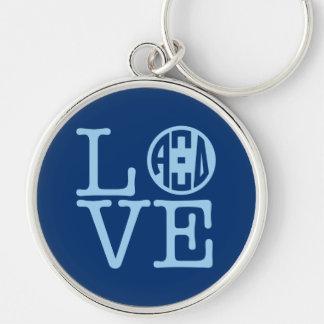 Alpha Xi Delta Love Key Ring