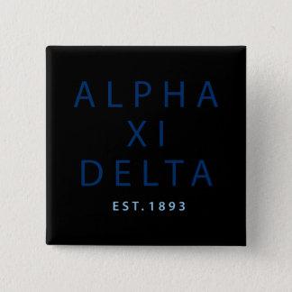 Alpha Xi Delta Modern Type 15 Cm Square Badge