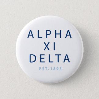 Alpha Xi Delta Modern Type 6 Cm Round Badge