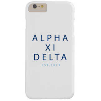 Alpha Xi Delta Modern Type Barely There iPhone 6 Plus Case