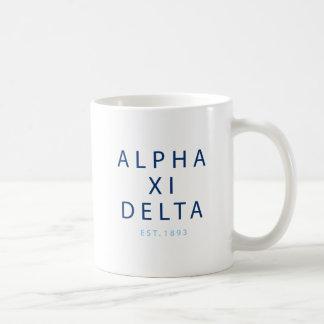 Alpha Xi Delta Modern Type Coffee Mug