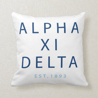 Alpha Xi Delta Modern Type Cushion