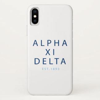 Alpha Xi Delta Modern Type iPhone X Case