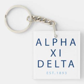 Alpha Xi Delta Modern Type Key Ring