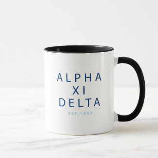 Alpha Xi Delta Modern Type Mug