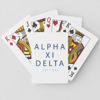 Alpha Xi Delta Modern Type Playing Cards
