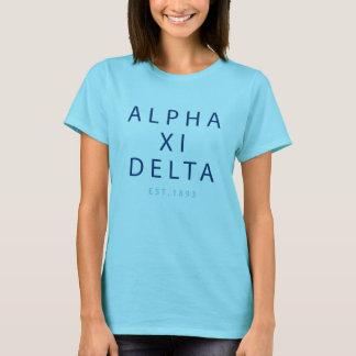 Alpha Xi Delta Modern Type T-Shirt