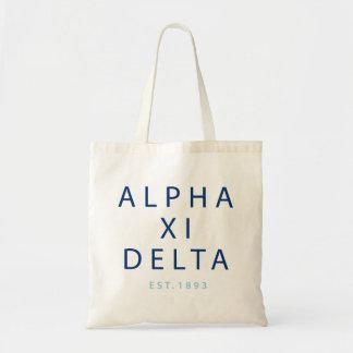 Alpha Xi Delta Modern Type Tote Bag