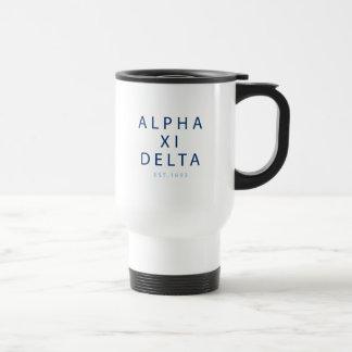 Alpha Xi Delta Modern Type Travel Mug