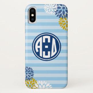 Alpha Xi Delta | Monogram Stripe Pattern iPhone X Case