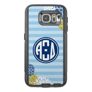 Alpha Xi Delta | Monogram Stripe Pattern OtterBox Samsung Galaxy S6 Case