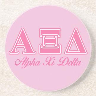 Alpha Xi Delta Pink Letters Beverage Coasters