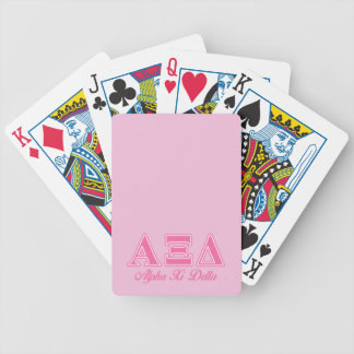 Alpha Xi Delta Pink Letters Bicycle Playing Cards