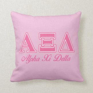 Alpha Xi Delta Pink Letters Cushion