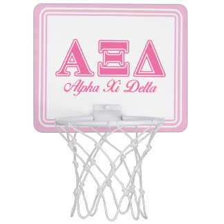Alpha Xi Delta Pink Letters Mini Basketball Hoop