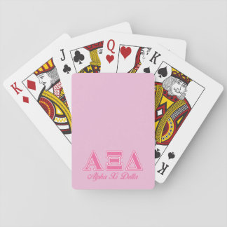 Alpha Xi Delta Pink Letters Playing Cards