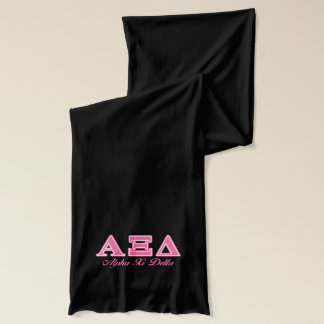 Alpha Xi Delta Pink Letters Scarf