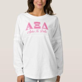 Alpha Xi Delta Pink Letters Spirit Jersey