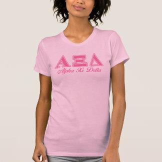 Alpha Xi Delta Pink Letters T-Shirt