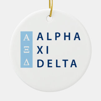 Alpha Xi Delta Stacked Christmas Ornament