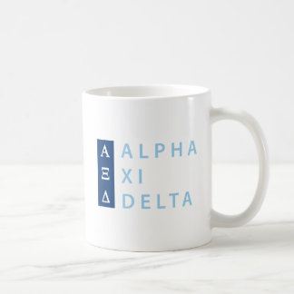 Alpha Xi Delta Stacked Coffee Mug