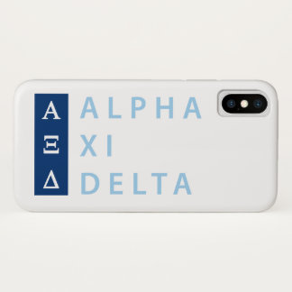 Alpha Xi Delta Stacked iPhone X Case