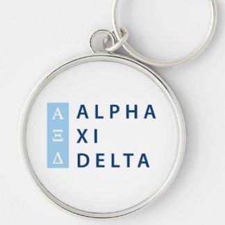 Alpha Xi Delta Stacked Key Ring