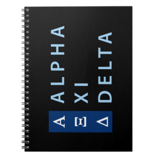 Alpha Xi Delta Stacked Notebook