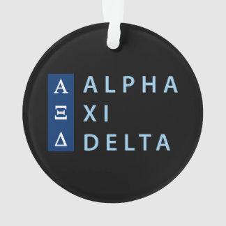 Alpha Xi Delta Stacked Ornament