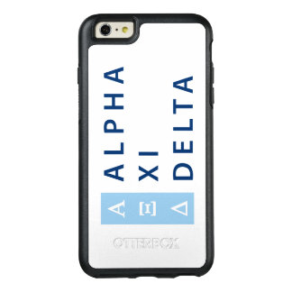 Alpha Xi Delta Stacked OtterBox iPhone 6/6s Plus Case