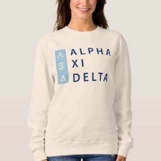 Alpha Xi Delta Stacked Sweatshirt