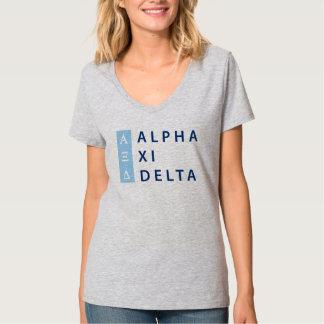 Alpha Xi Delta Stacked T-Shirt