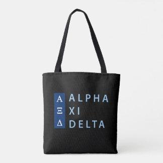 Alpha Xi Delta Stacked Tote Bag