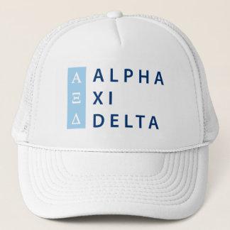 Alpha Xi Delta Stacked Trucker Hat