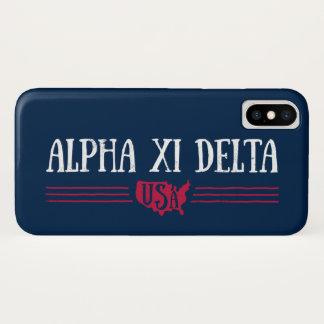Alpha Xi Delta USA iPhone X Case