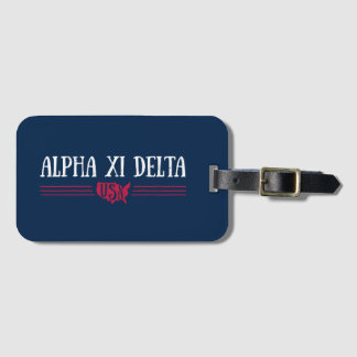 Alpha Xi Delta USA Luggage Tag