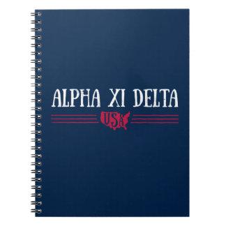 Alpha Xi Delta USA Notebook