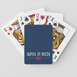 Alpha Xi Delta USA Playing Cards