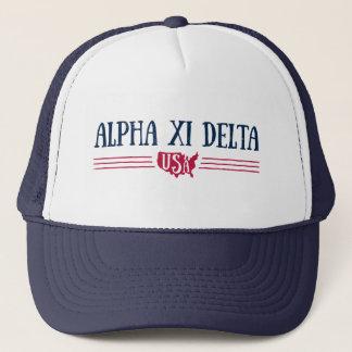 Alpha Xi Delta USA Trucker Hat