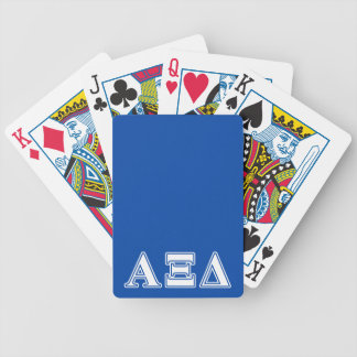 Alpha Xi Delta White and Blue Letters Bicycle Playing Cards