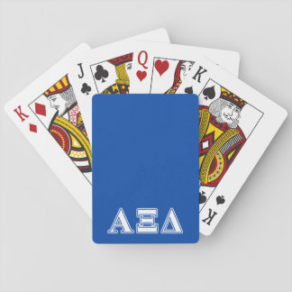 Alpha Xi Delta White and Blue Letters Playing Cards