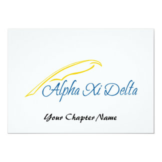 Alpha Xi Delta with Quill Card
