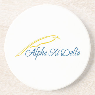 Alpha Xi Delta with Quill Coaster