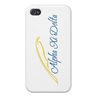 Alpha Xi Delta with Quill Cover For iPhone 4