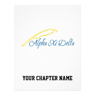 Alpha Xi Delta with Quill Flyer
