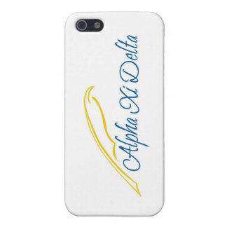 Alpha Xi Delta with Quill iPhone 5/5S Cases