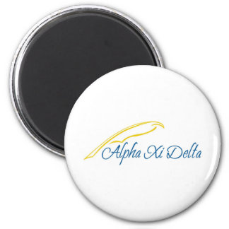 Alpha Xi Delta with Quill Magnet