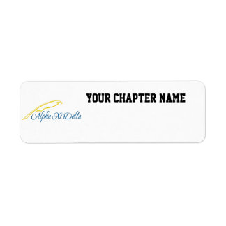Alpha Xi Delta with Quill Return Address Label