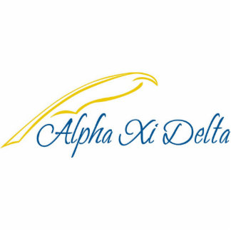 Alpha Xi Delta with Quill Standing Photo Sculpture